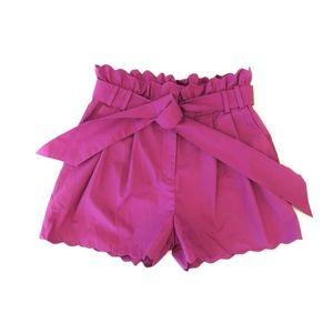 J.Crew Scalloped Pink Shorts Sz. 2